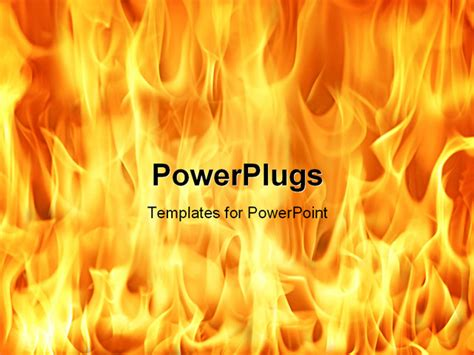 powerpoint template fire and flames background 12289