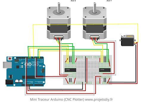 Cnc Breadboard Mini Solderless 400 400p recycler 2 lecteurs dvd en mini traceur cnc plotter avec un arduino uno et 2 ponts en h l293d