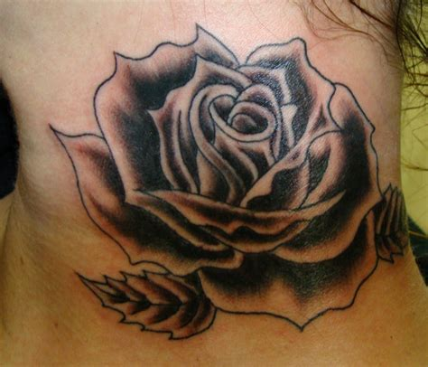 black rose neck tattoo black neck pictures to pin on