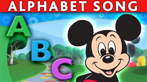 mickey mouse song mickey mouse minnie mouse donald abc song alphabet song abc nursery rhymes abc song