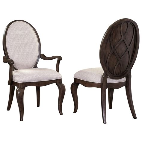 oval back dining room chairs broyhill furniture cashmera dining arm chair with oval