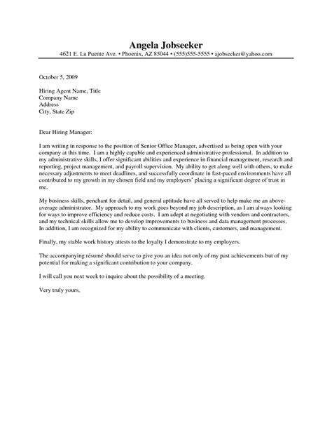 cover letter for senior administrative assistant administrative assistant resume cover letter http