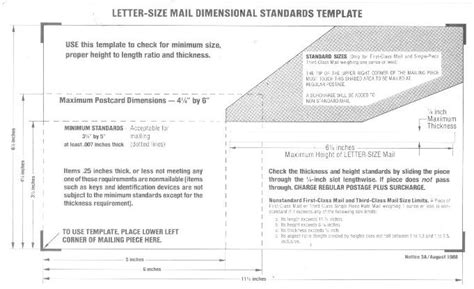 Usps Letter Size Levelings Postcard Size Template