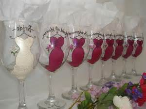 Tari s blog personalized hand painted bridal party wine glasses set