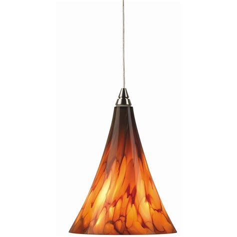 Small Murano Glass Mini Pendant Light In Satin Nickel Small Pendant Lights