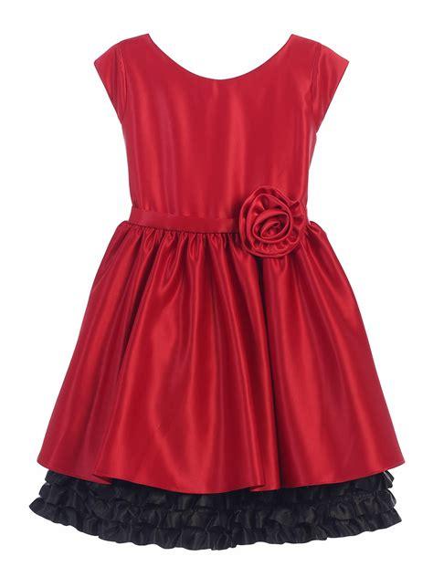 Satin Ruffles Dress black satin w ruffle dress