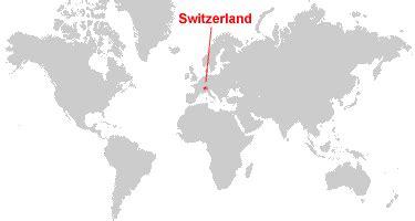 switzerland map in world map switzerland map and satellite image