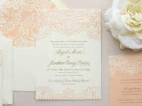 printed lace wedding invitation design sang maestro