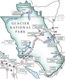glacier national park map mapquest