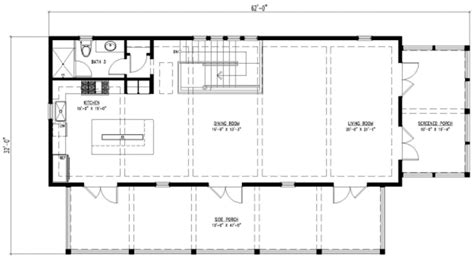 4 bedroom rectangular house plans beach style house plan 3 beds 4 baths 2201 sq ft plan 443 4