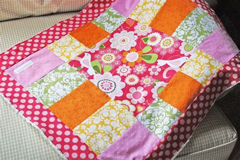 Patchwork Baby Quilt Tutorial - noodles milk patchwork baby blanket a tutorial