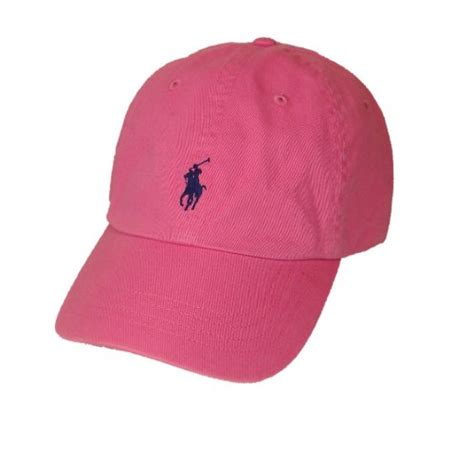 light pink polo baseball cap polo ralph lauren pony logo hat cap pink with navy pony