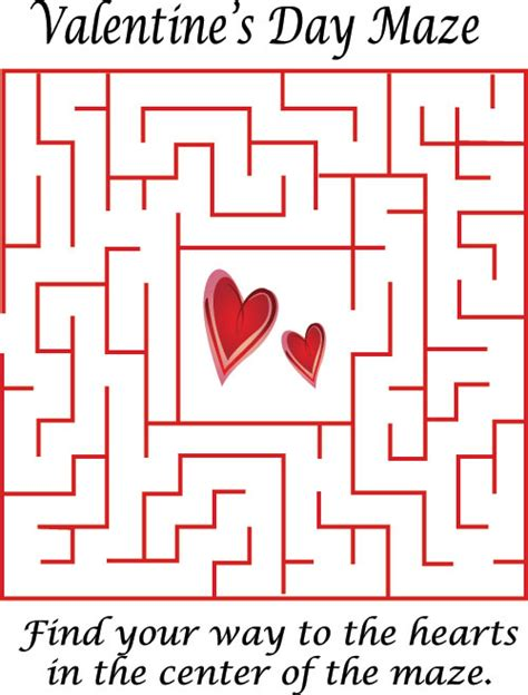 printable valentine s maze valentine s day maze history st valentine s day
