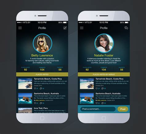 black theme download for mobile mobile ui travel tour app dark theme on behance