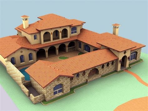 spanish house plans with courtyard spanish mediterranean style homes spanish hacienda style