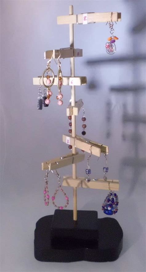 Handmade Jewelry Display Ideas - unique earring display handmade wood one of a deb