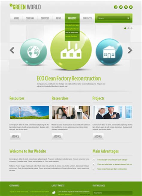 joomla templates for business website green world energy company joomla template