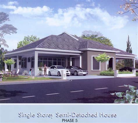 single detached house design single storey semi detached house at river view park miri