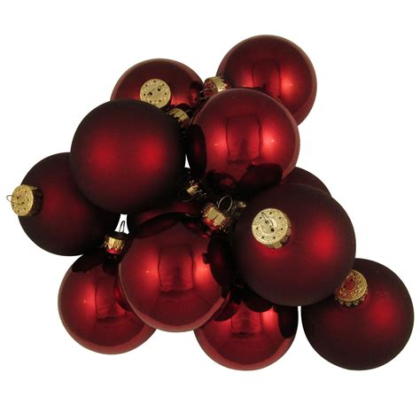 christmas by krebs 67mm burgundy deco glass christmas