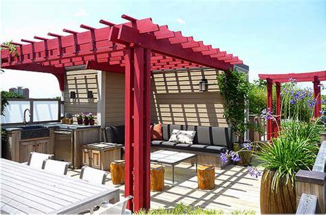 rooftop pergolas contemporary deck boston