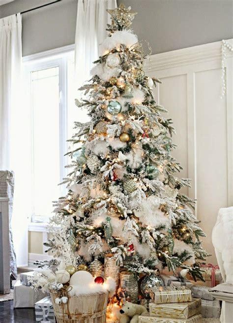 arbol de navidad precioso blanco alto colecci 243 n interiorismo