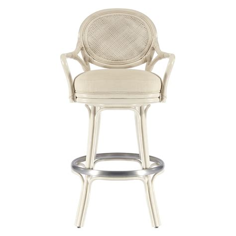 white bar stools with backs and arms white wicker swivel bar stool with back and double arms