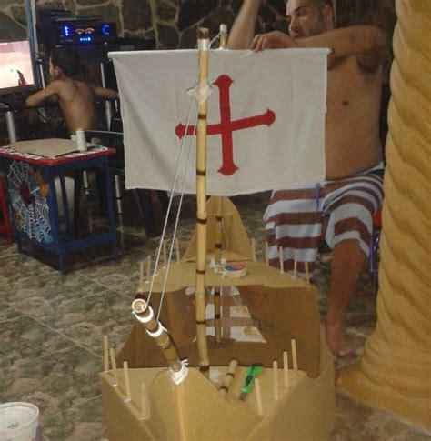 barco pirata hecho en carton barco hecho de cart 243 n material reciclaje steemit