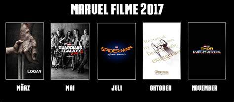 marvel film kino marvel filme 2017 in der 220 bersicht welche filme laufen