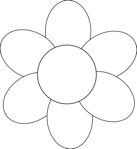 pattern of small white clouds crossword flower six petals black outline clipart i2clipart