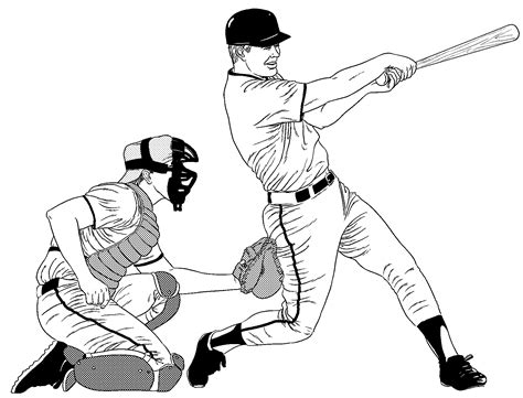 baseball coloring pages sports baseball football