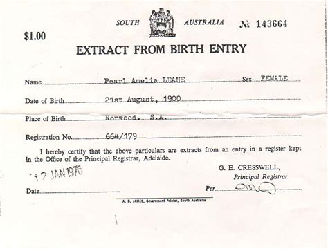 full birth certificate extract meaning ancestors of don anderson