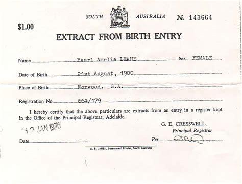 South Australia Birth Records Ancestors Of Don