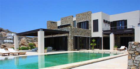 moderne luxusvilla moderne luxusvilla am paradise strand auf mykonos