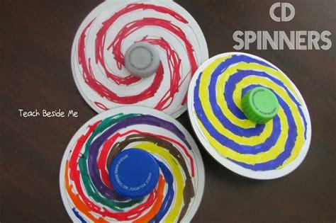 homemade cd spinner toy teach beside me