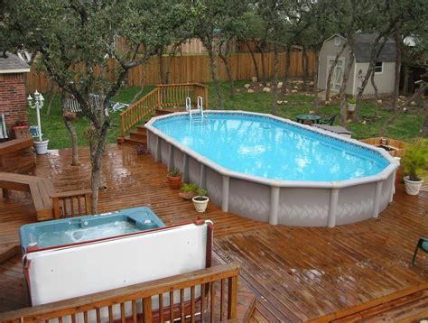 above ground pool in small backyard backyard deck ideas for small yards home design designs above ground pool decks loversiq