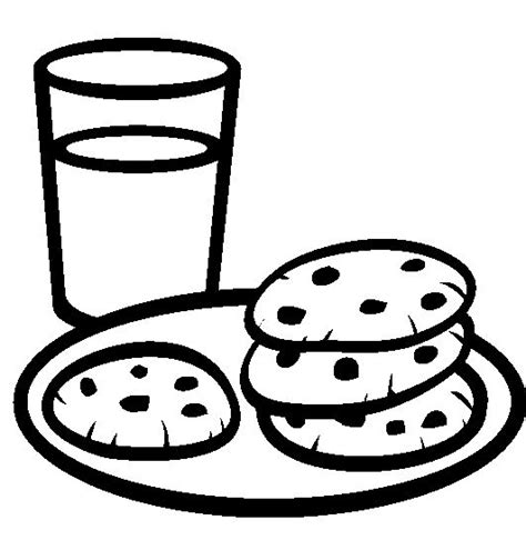 A Plate Of Cookies With A Glass Of Milk Coloring Pages Cookies Coloring Pages