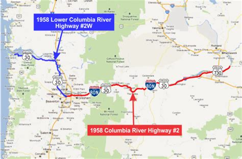 map of hwy 30 oregon columbia river highway 2