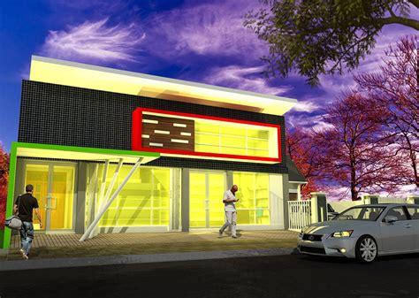 bentuk layout toko desain ruko multidesain arsitek