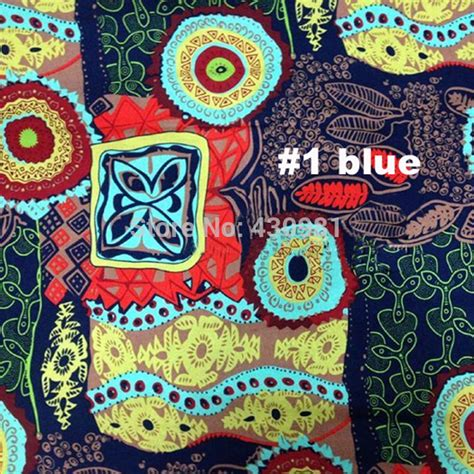 Material Patchwork - ethnic cotton linen material upholstery cloth