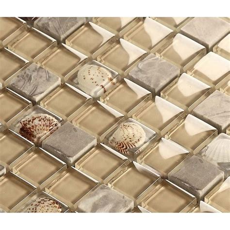 Mirrored Wall Stickers wholesale natural stone crystal shell mosaic tile sheet