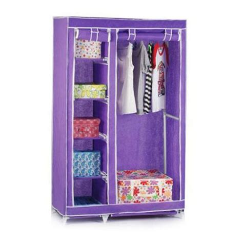 Canvas Clothes Closet by Canvas Foldable Clothes Wardrobe Closets Cupboard Hanging Rail Shelf