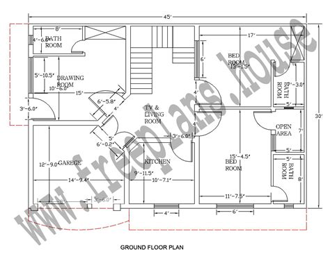 45 feet to meters 30 215 45 feet 125 square meter house plan