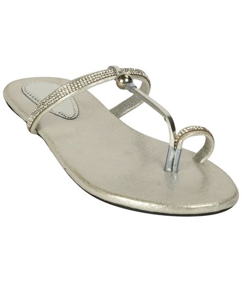 silver one slippers zachho silver flat slippers price in india buy zachho