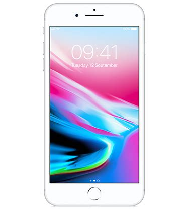 apple iphone 8 plus 256gb silver pay monthly media