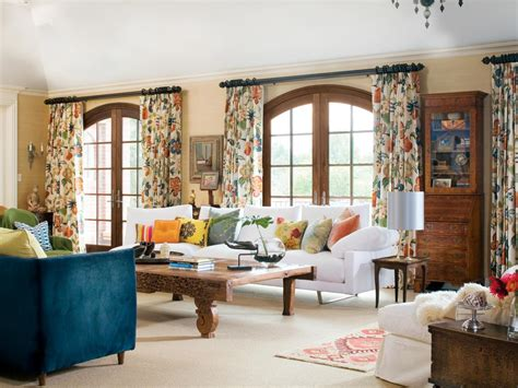 patterned curtains for living room photo page hgtv