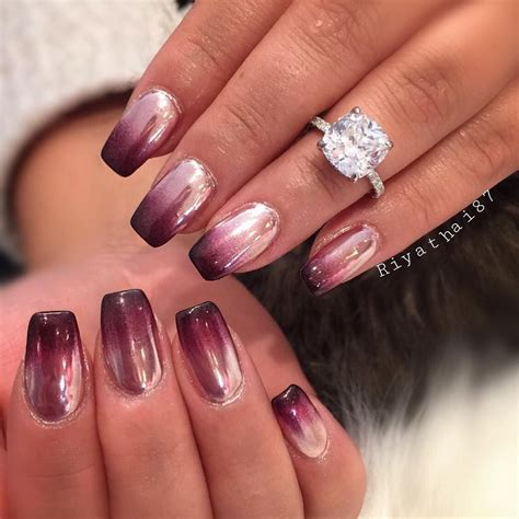colors and styles for gel nails ombr 233 chrome nail designs pinterest chrome nail