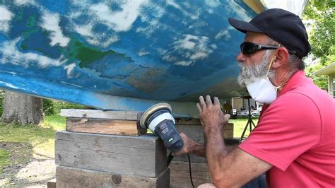 boat bottom paint prep prepping your boat for bottom paint youtube
