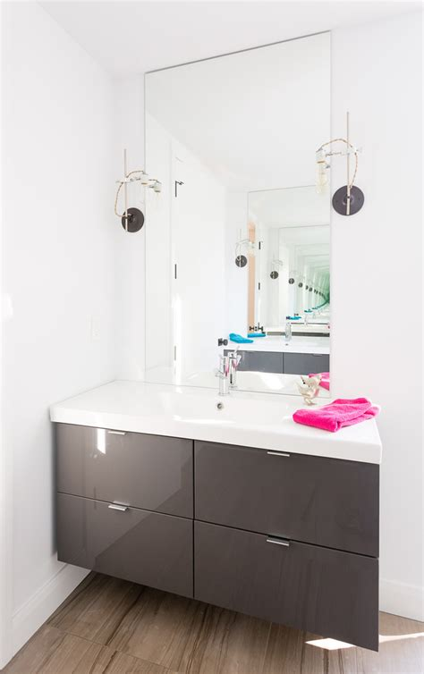 contemporary wall sconces bathroom contemporary with