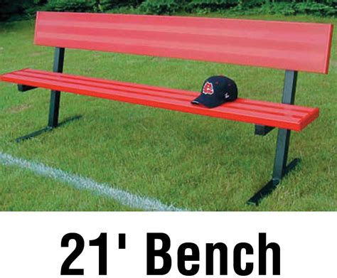 bench player jaypro aluminum player bench powder coated w backrest