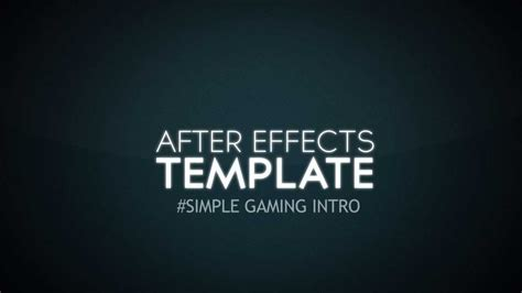 Free After Effects Gaming Intro Template Youtube Gaming Intro Template After Effects